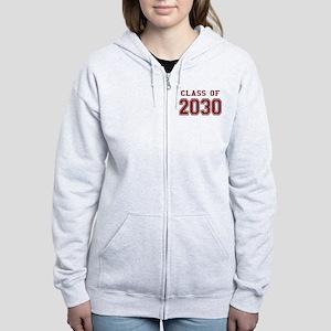 Class of 2030 (Red) Women's Zip Hoodie