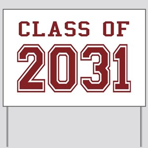 Class of 2031 (Red) Yard Sign