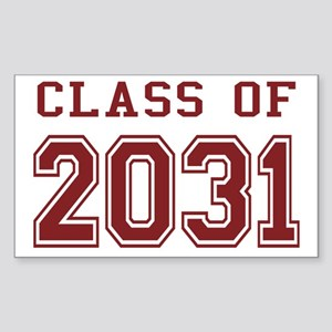 Class of 2031 (Red) Sticker (Rectangle)