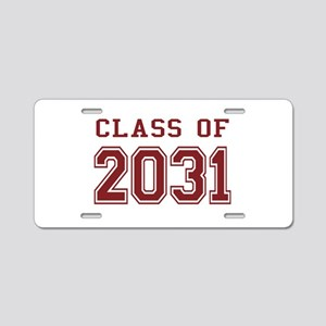 Class of 2031 (Red) Aluminum License Plate