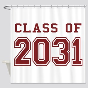 Class of 2031 (Red) Shower Curtain