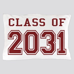 Class of 2031 (Red) Pillow Case