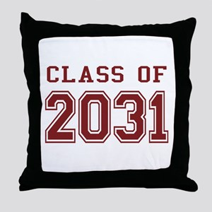 Class of 2031 (Red) Throw Pillow