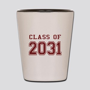 Class of 2031 (Red) Shot Glass