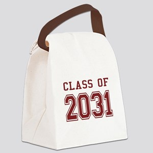 Class of 2031 (Red) Canvas Lunch Bag