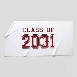 Class of 2031 (Red) Beach Towel