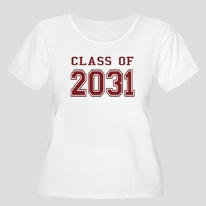 Class of 2031 (Red) Women's Plus Size Scoop Neck T