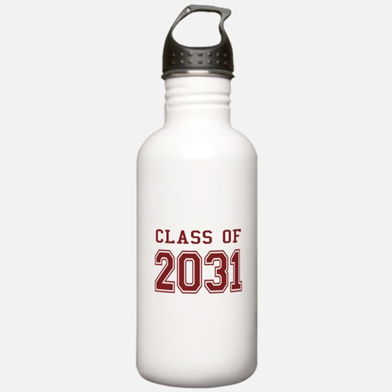 Class of 2031 (Red) Water Bottle