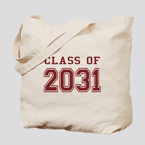 Class of 2031 (Red) Tote Bag