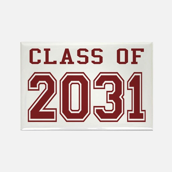 Class of 2031 (Red) Rectangle Magnet