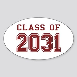 Class of 2031 (Red) Sticker (Oval)