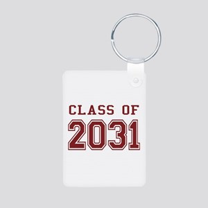 Class of 2031 (Red) Aluminum Photo Keychain