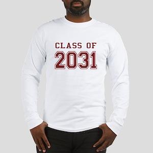 Class of 2031 (Red) Long Sleeve T-Shirt