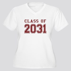 Class of 2031 (Red) Women's Plus Size V-Neck T-Shi