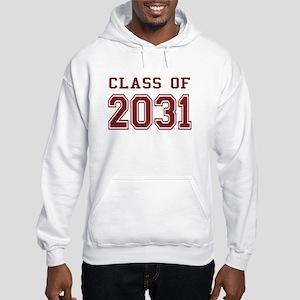 Class of 2031 (Red) Hooded Sweatshirt