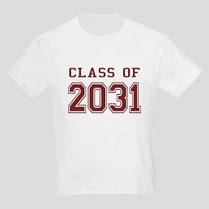 Class of 2031 (Red) Kids Light T-Shirt