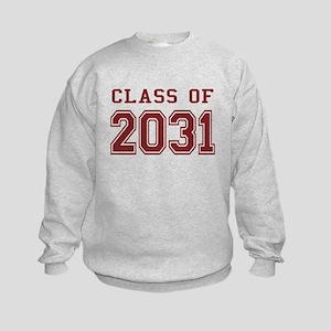 Class of 2031 (Red) Kids Sweatshirt