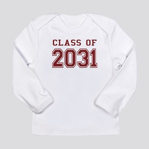 Class of 2031 (Red) Long Sleeve Infant T-Shirt