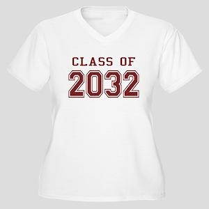 Class of 2032 Women's Plus Size V-Neck T-Shirt