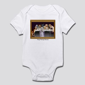 Dogs Playing Flipcup Infant Bodysuit