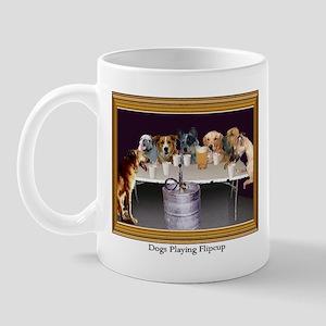 Dogs Playing Flipcup Mug