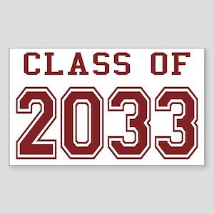 Class of 2033 Sticker (Rectangle)
