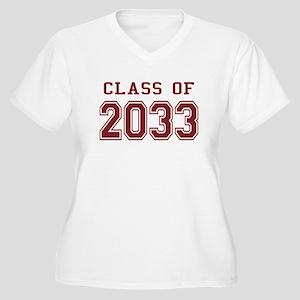 Class of 2033 Women's Plus Size V-Neck T-Shirt