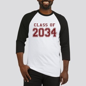 Class of 2034 (Red) Baseball Jersey