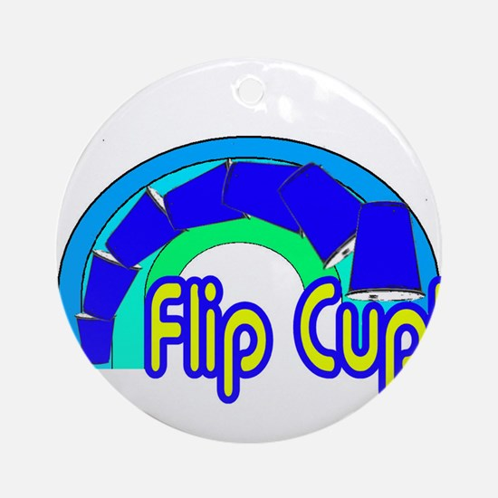 Flip Cup! Ornament (Round)