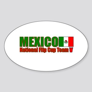 Mexico National Flip Cup Team Oval Sticker