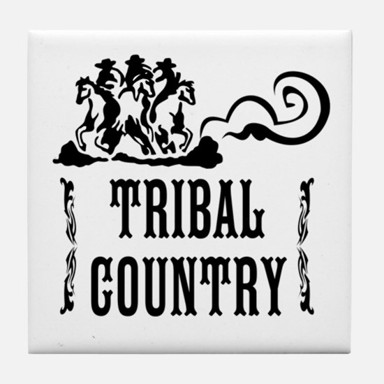 Tribal Country Tile Coaster