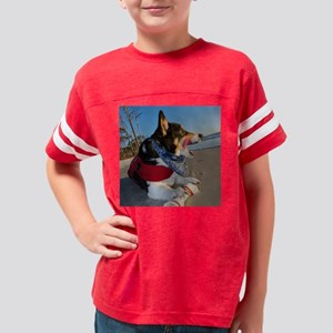 Corgi Licking his Chops Youth Football Shirt
