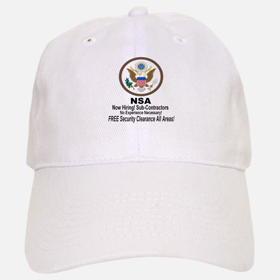 NSA Now Hiring Sub-Contractors Baseball Baseball Cap