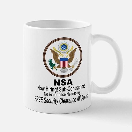 NSA Now Hiring Sub-Contractors Mug