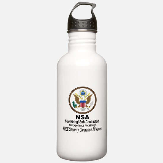 NSA Now Hiring Sub-Contractors Water Bottle