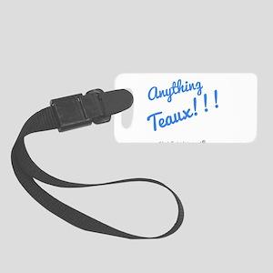 Anything Teaux bblu Logo_1501518 Small Luggage Tag