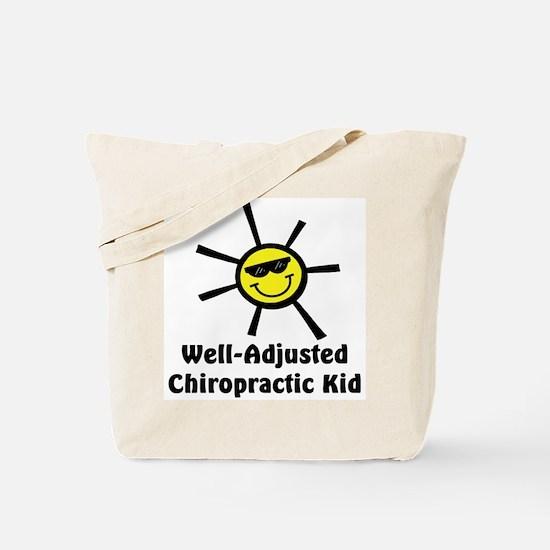 Well-Adjusted Chiro Kid Tote Bag