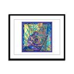 Pointillist Mayahuel Framed Panel Print