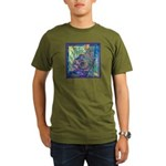 Pointillist Mayahuel Organic Men's T-Shirt (dark)