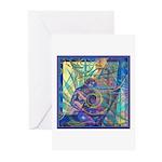 Pointillist Mayahuel Greeting Cards (Pk of 20)