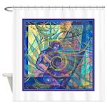 Pointillist Mayahuel Shower Curtain