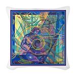 Pointillist Mayahuel Woven Throw Pillow