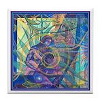 Pointillist Mayahuel Tile Coaster