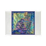 Pointillist Mayahuel Rectangle Magnet