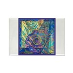 Pointillist Mayahuel Rectangle Magnet (10 pack)
