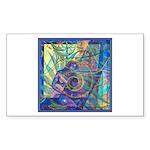 Pointillist Mayahuel Sticker (Rectangle)