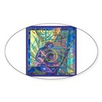 Pointillist Mayahuel Sticker (Oval)