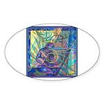 Pointillist Mayahuel Sticker (Oval 50 pk)