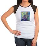 Pointillist Mayahuel Women's Cap Sleeve T-Shirt