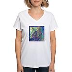 Pointillist Mayahuel Women's V-Neck T-Shirt